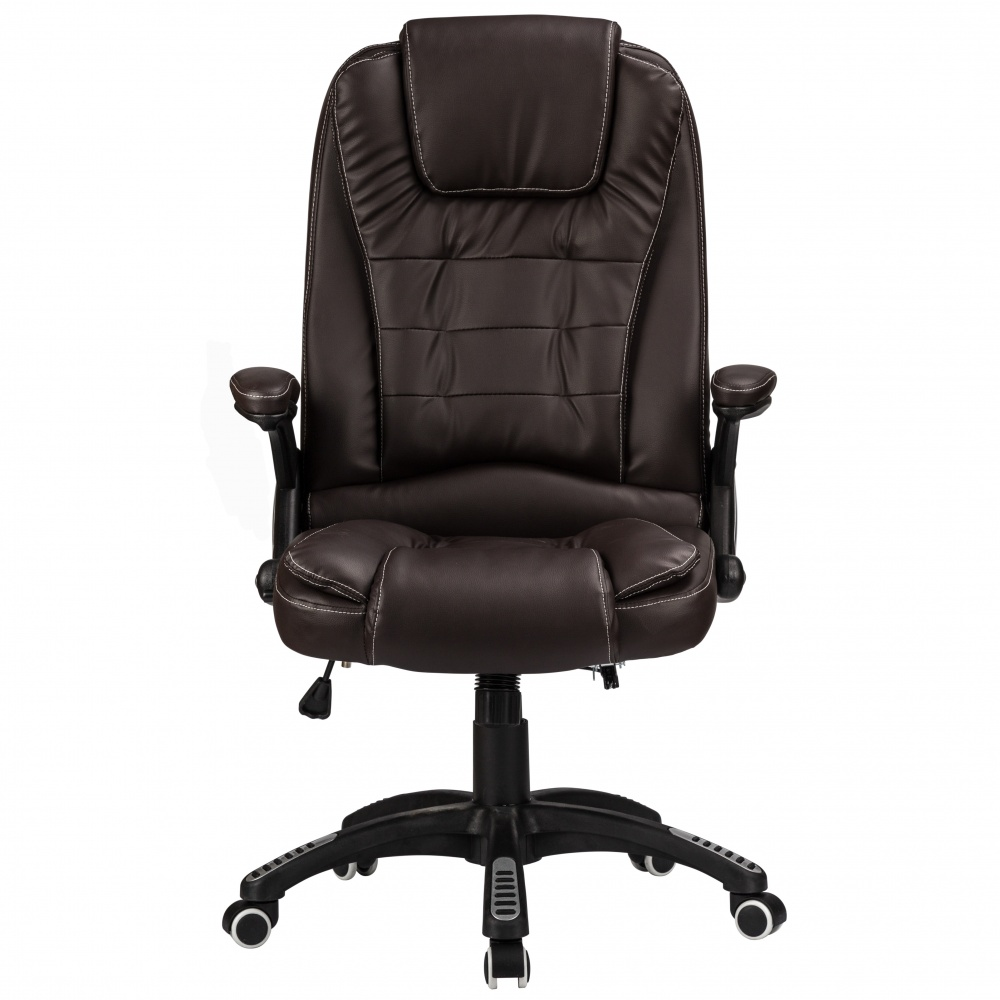 0470f0e27344 RayGar Luxury Faux Leather High Back Reclining Office Chair - Brown |  www.raygardirect.com